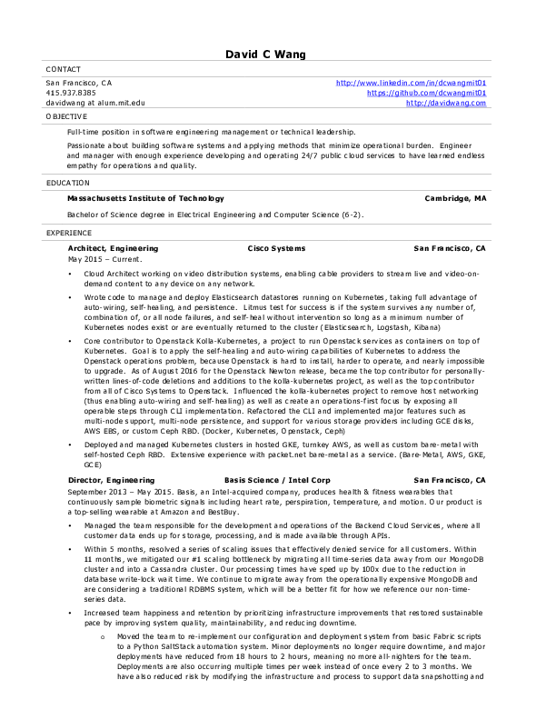 resume - Computer Science Resume Mit